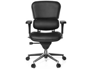 Bürostuhl / Chefsessel ERGOHUMAN BASE Leder schwarz hjh OFFICE