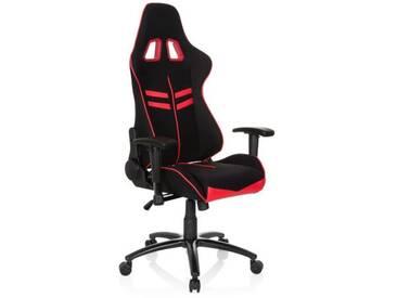 Gaming Stuhl / Bürostuhl LEAGUE PRO I Stoff / Kunstleder schwarz / rot hjh OFFICE