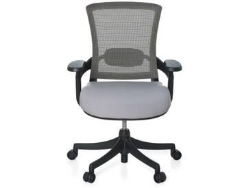 Bürostuhl SKATE BASE Sitz Stoff grau / Rücken Netz grau / Rahmen schwarz hjh OFFICE