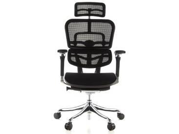 Bürostuhl / Chefsessel ERGOHUMAN PLUS Sitz Stoff / Rücken Netz schwarz hjh OFFICE