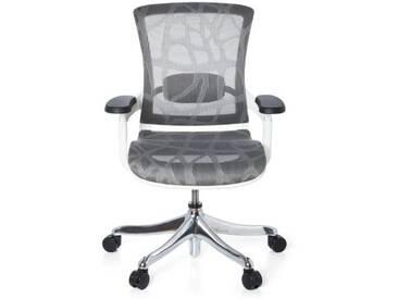 Bürostuhl SKATE STYLE Sitz und Rücken Netz Design grau / Rahmen weiß hjh OFFICE