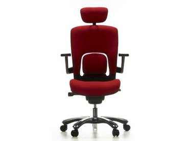 Bürostuhl / Drehstuhl VAPOR LUX Stoff rot hjh OFFICE