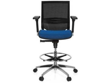 Arbeitsstuhl / Counterstuhl TOP WORK 78 Netz blau/schwarz hjh OFFICE