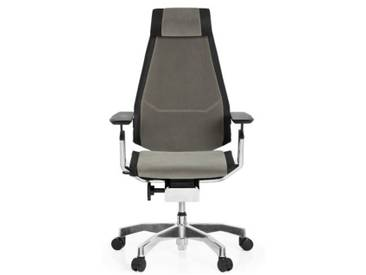 Bürostuhl / Drehstuhl GENIDIA PRO Stoff grau hjh OFFICE