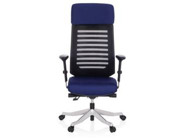 Bürostuhl / Drehstuhl ASGON Stoff blau hjh OFFICE