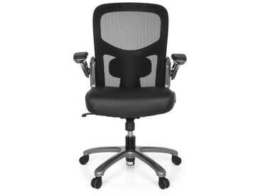 Schwerlaststuhl / Bürostuhl INSTRUCTOR T Titan XXL Netzstoff / Leder schwarz hjh OFFICE