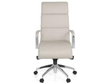 Bürostuhl / Chefsessel GALESA Leder grau hjh OFFICE