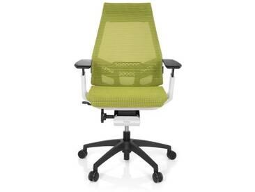 Bürostuhl / Drehstuhl GENIDIA SMART WHITE Netz grün hjh OFFICE