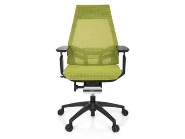 Bürostuhl / Drehstuhl GENIDIA SMART BLACK Netz grün hjh OFFICE