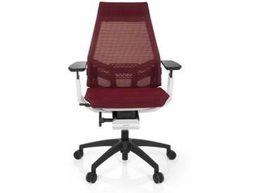 Bürostuhl / Drehstuhl GENIDIA SMART WHITE Netz rot hjh OFFICE