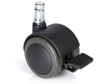 5x Hartbodenrollen mit Feststellbremse ROLO STOP 11mm / 50mm (5er Pack) hjh OFFICE