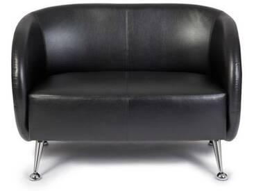 Loungesofa / Clubsofa ST. LUCIA Kunstleder 2-Sitzer schwarz hjh OFFICE