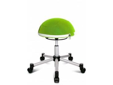 Topstar Sitzball / Hocker SITNESS HALF BALL Netz silber/grün