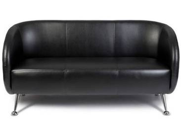 Loungesofa / Clubsofa ST. LUCIA Kunstleder 3-Sitzer schwarz hjh OFFICE
