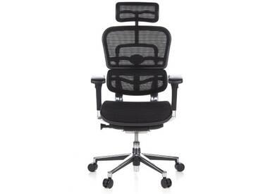 Bürostuhl / Chefsessel ERGOHUMAN Netzstoff schwarz hjh OFFICE