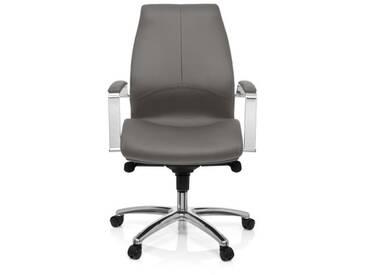 Bürostuhl / Chefsessel TULA Kunstleder grau hjh OFFICE