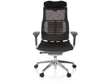 Bürostuhl / Chefsessel DYNAFIT BLACK Netzstoff schwarz hjh OFFICE