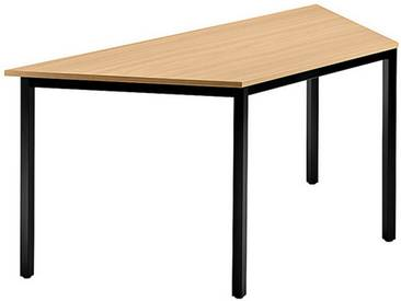 Konferenztisch mit Vierkant-Rohr schwarz DORAN 160 x 69cm Buche