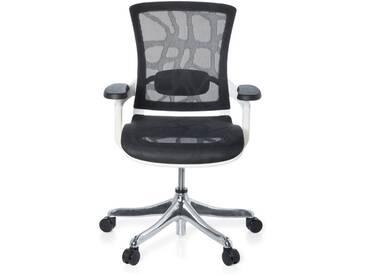 Bürostuhl SKATE STYLE Sitz und Rücken Netz Design schwarz / Rahmen weiß hjh OFFICE