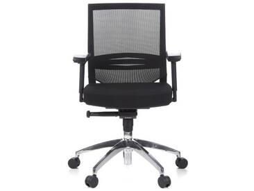 Bürostuhl / Chefsessel PORTO PRO Sitz Stoff / Rücken Netz schwarz hjh OFFICE
