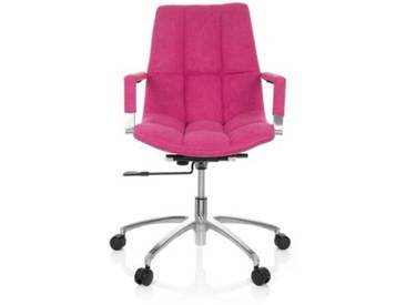 Bürostuhl / Drehstuhl SARANTO Stoff pink hjh OFFICE