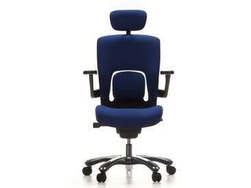 Bürostuhl / Drehstuhl VAPOR LUX Stoff blau hjh OFFICE