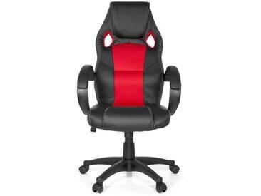 Gaming Stuhl / Bürostuhl GAMING ZONE PRO Kunstleder/Netz schwarz / rot
