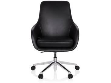 Bürostuhl / Chefsessel BARENO Leder schwarz hjh OFFICE