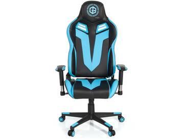 Gaming Stuhl / Bürostuhl GAMEBREAKER VR 12 Kunstleder schwarz / blau hjh OFFICE