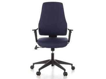 Bürostuhl / Drehstuhl PRO-TEC 100 Stoff dunkelblau hjh OFFICE