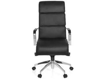 Bürostuhl / Chefsessel GALESA Leder schwarz hjh OFFICE