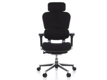Bürostuhl / Chefsessel ERGOHUMAN Stoff schwarz hjh OFFICE