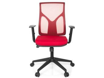 Bürostuhl / Drehstuhl TURAN Netzstoff rot hjh OFFICE