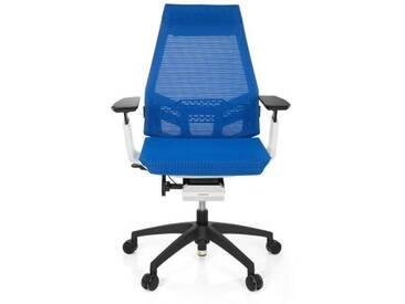 Bürostuhl / Drehstuhl GENIDIA SMART WHITE Netz blau hjh OFFICE