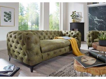Sofa 3 Sitzer 225x97x73 grün CHELSEA #157