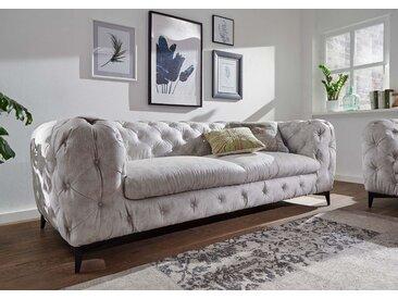 Sofa 3 Sitzer 225x97x73 hellgrau CHELSEA #151