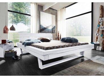 Balkenbett Fichte 160x200x87 weiß lackiert VANCOUVER #710