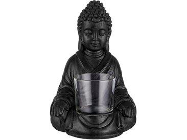 Butlers - BUDDHA Teelichthalter 16,5cm - Schwarz