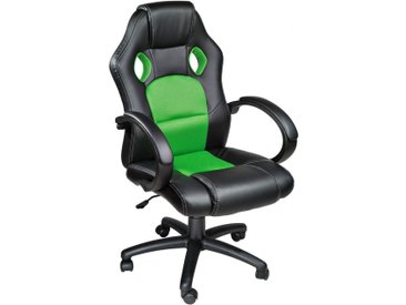 Racing Gamingstuhl schwarz/grün von tectake