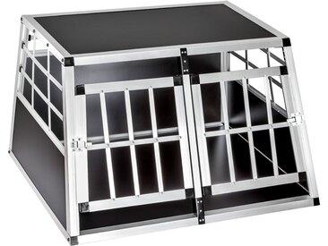 Hundetransportbox doppel mit gerader Rückwand 89 x 69 x 50 cm von tectake