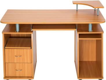 Computertisch 115x55x87cm Buche Von TecTake