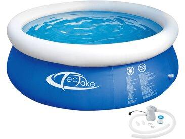 Swimming Pool rund mit Filterpumpe Ø 300 x 76 cm von tectake