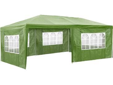 Garten Pavillon 6x3m mit 5 Seitenteilen grün von tectake