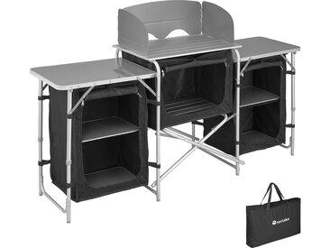 Campingküche 172x52x104cm schwarz von tectake