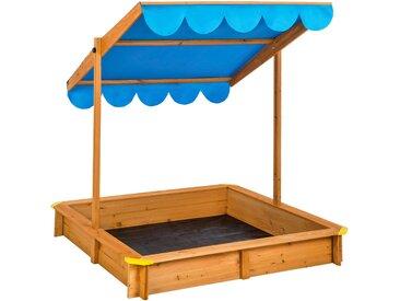 Sandkasten mit verstellbarem Dach blau von tectake