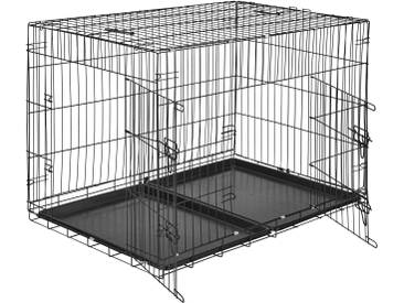 Hundebox Gitter tragbar 106 x 70 x 76 cm von tectake