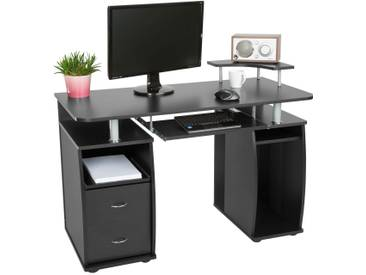 Computertisch 115x55x87cm Schwarz Von TecTake