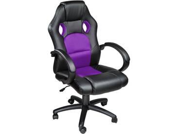 Racing Gamingstuhl schwarz/lila von tectake