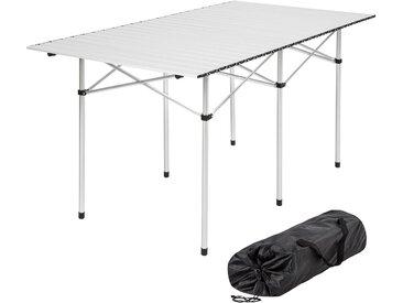 Camping Klapptisch aus Aluminium inkl. Tasche 140x70x70cm von tectake