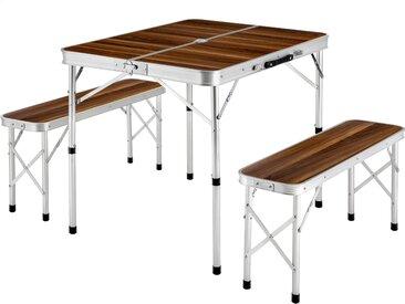 Koffertisch mit 2 Sitzbänken von tectake